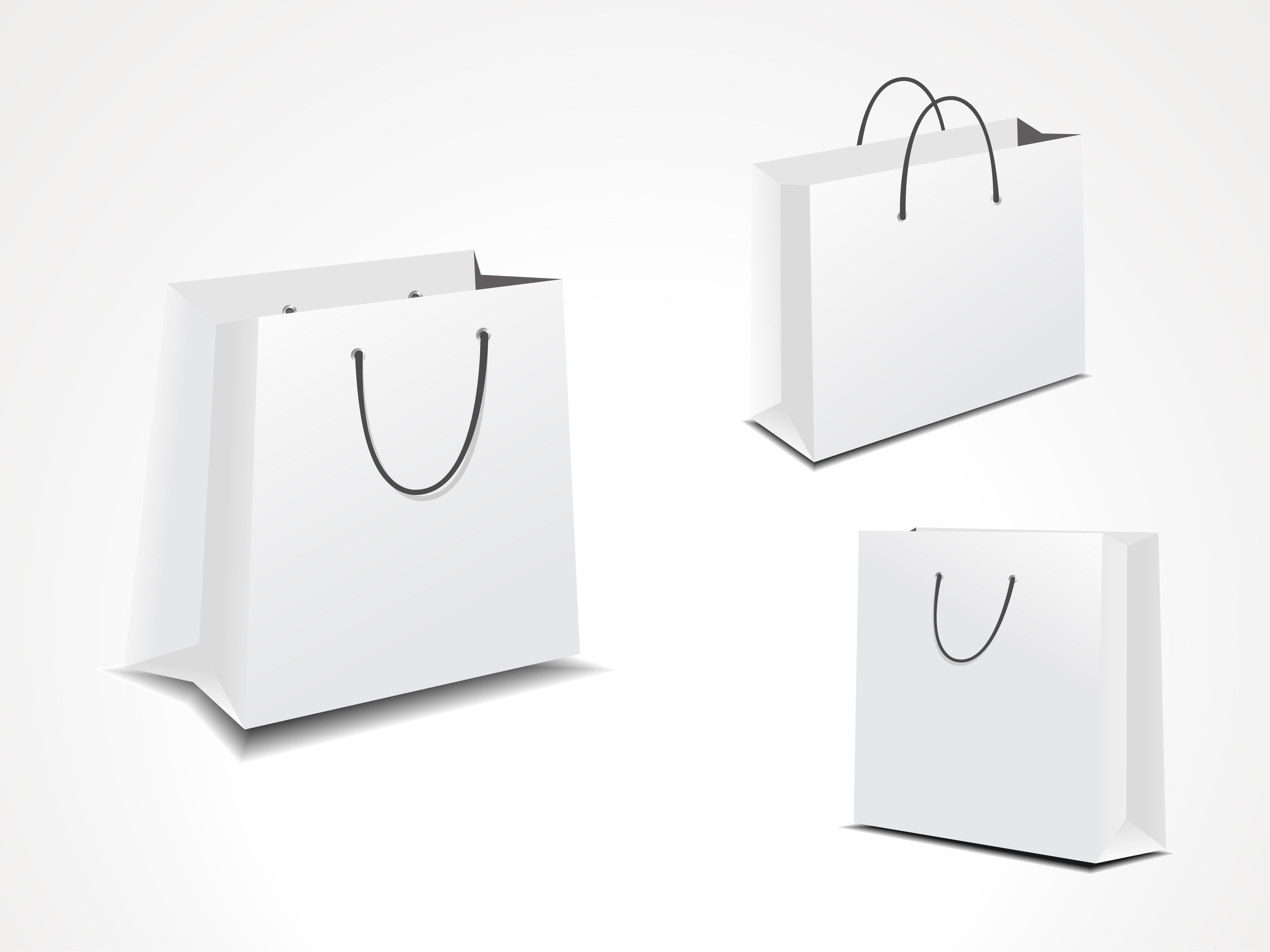 Paper Bag Template Free Vector Art