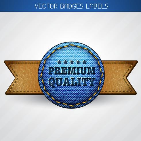 etiqueta de calidad premium