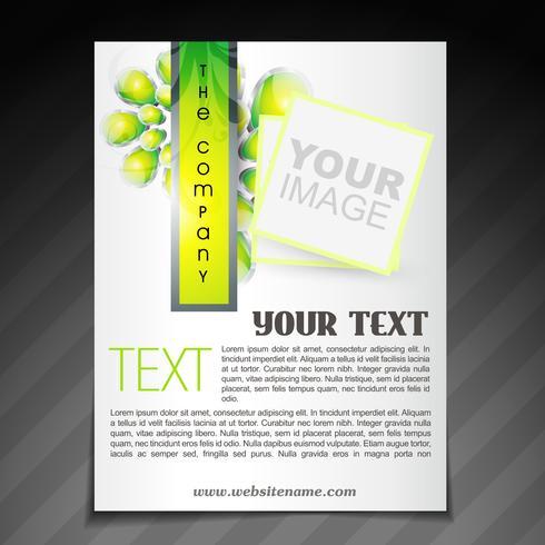 folleto de la empresa con estilo vector