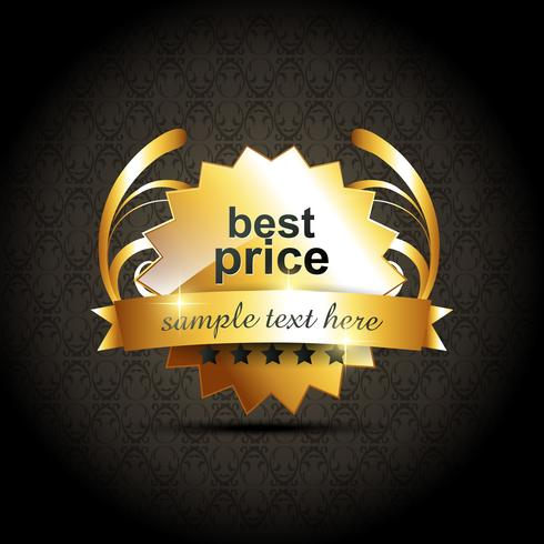 vector best price label