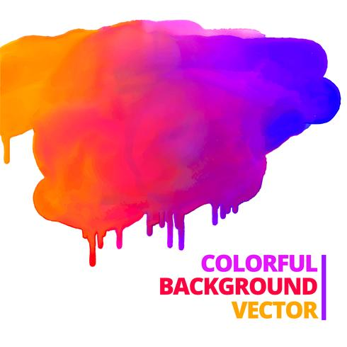flow of paint colors ink splash vector design