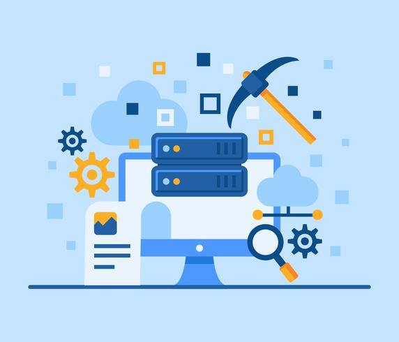 Illustrazione di concetto di Data Mining