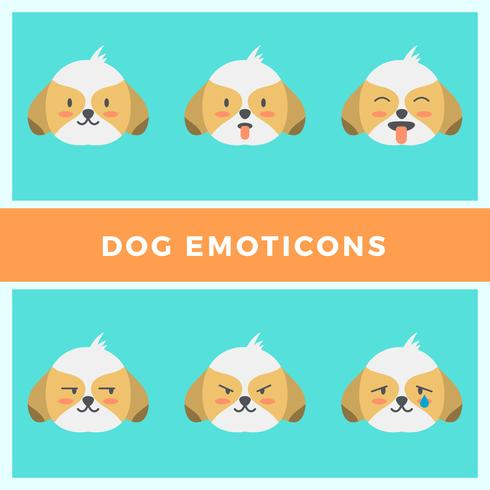 Collection de vecteur plat Emoticons