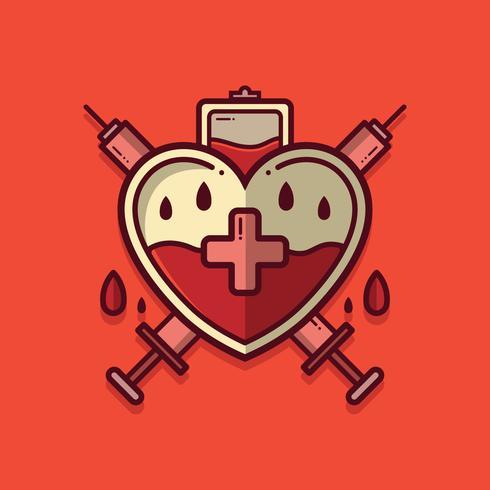 Vetor de distintivo de unidade de sangue