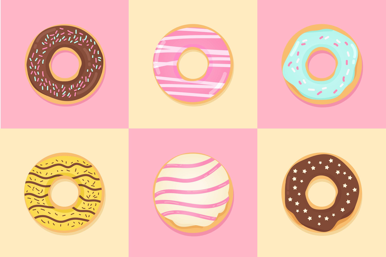 Cute Donut Free Vector Art 13520 Free Downloads