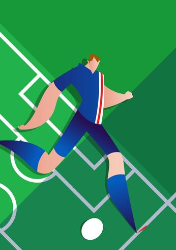 Iceland World Cup Soccer Player Vector Illustration