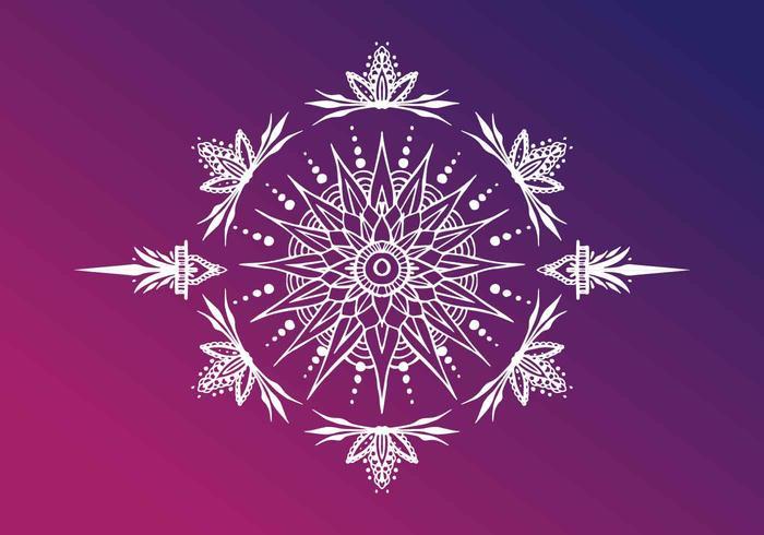 Henna Art Illustration vectorielle