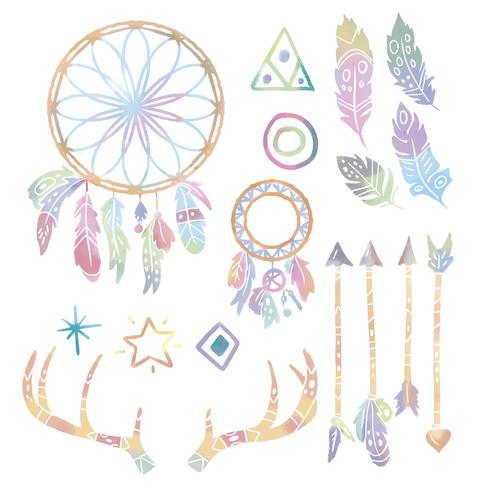 Cute Boho Elements Collection
