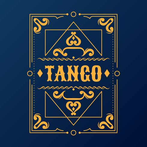 diseño retro vintage marco tipografía cartel retro
