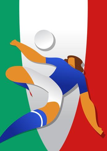 Vetor de jogadores de futebol de Copa do mundo de Itália