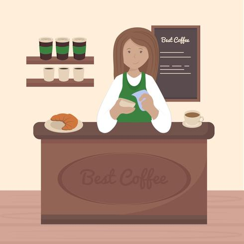 Vector Barista Illustration