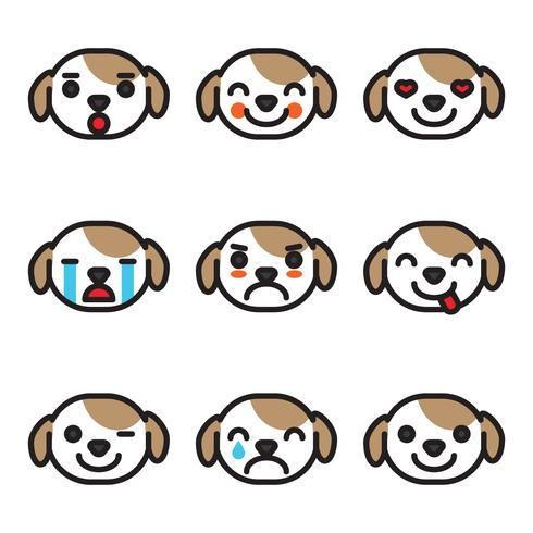 Utseende Emoji Dog Faces