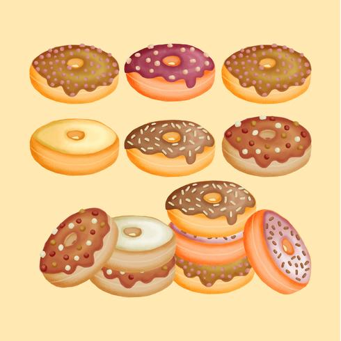 Vektor-Donuts-Illustration