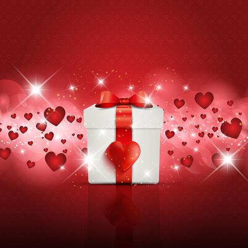 Valentine's Day gift boxbackground vector
