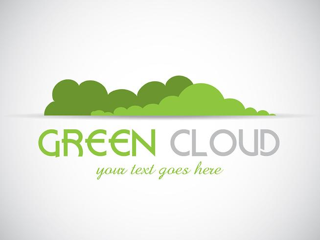 Green cloud logo