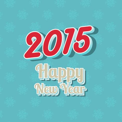 Happy New Year typography background