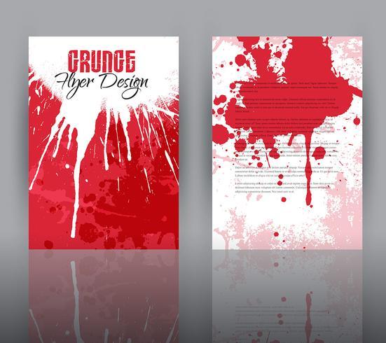 Grunge design for flyer template