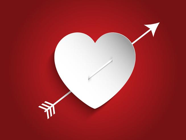 Heart design with arrow