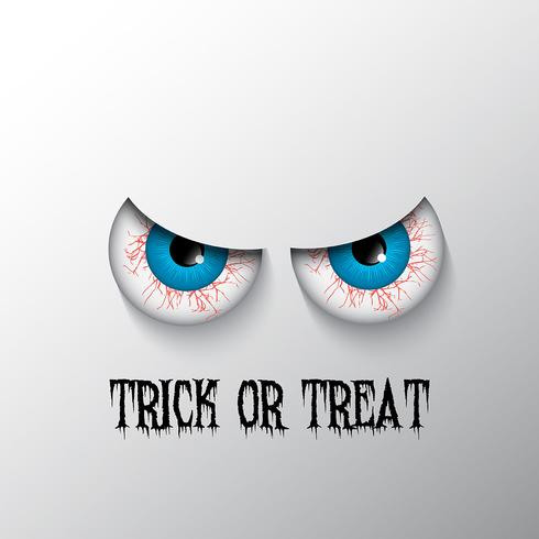 Halloween background with evil eyes