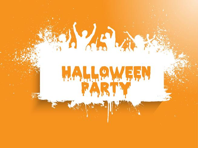 Grunge Halloween party background vector