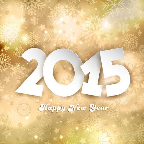 Gouden gelukkig Nieuwjaar achtergrond
