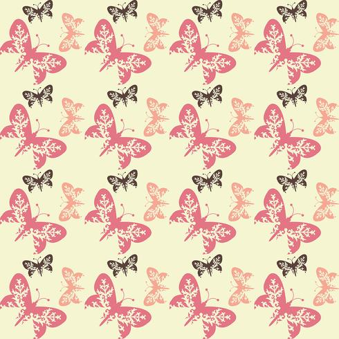Seamless tile butterfly background