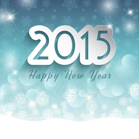 Happy New Year background on snowflake background