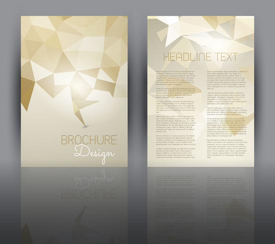 Flyer design avec un design low poly