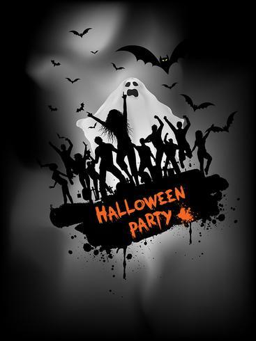 Fondo de fiesta de Halloween Grunge