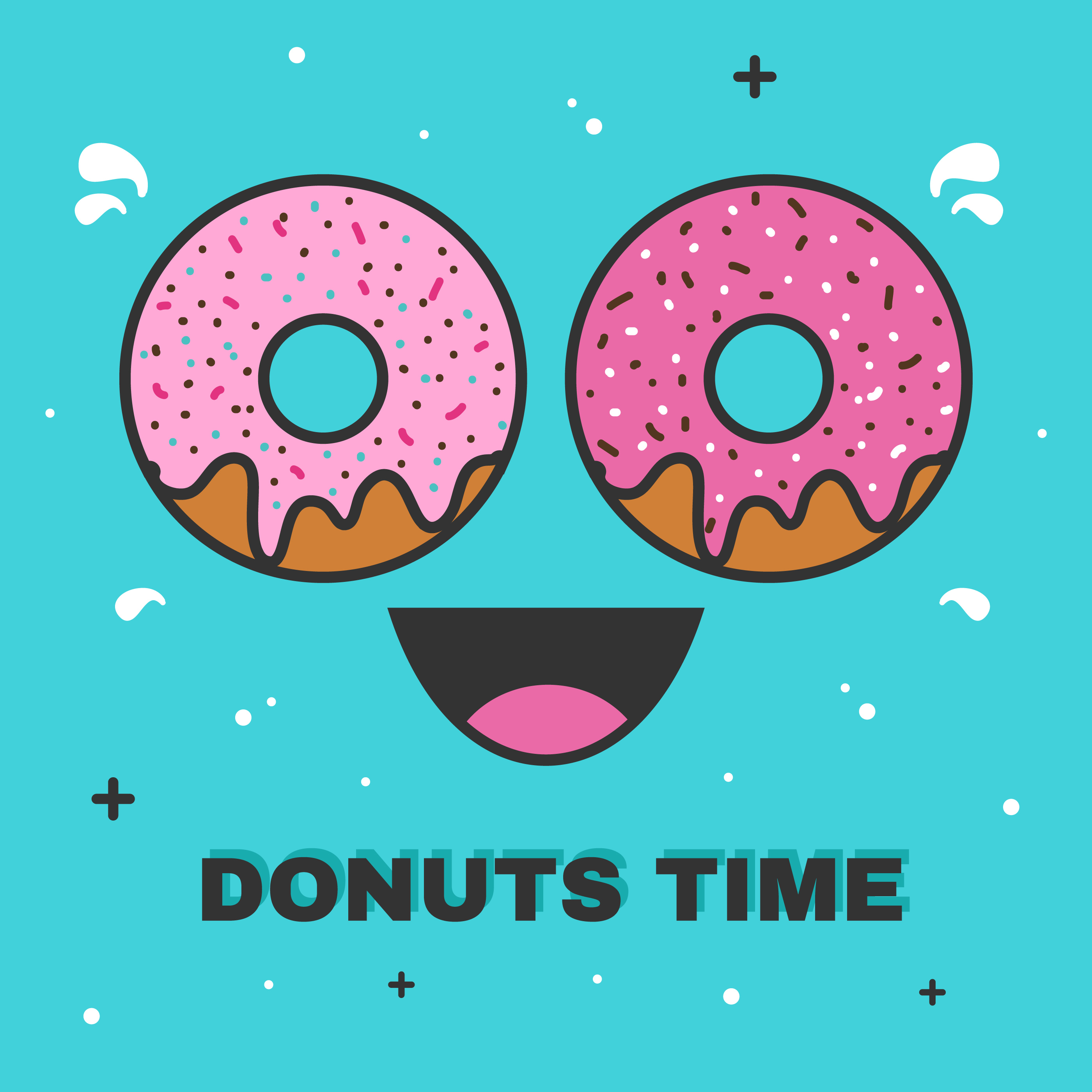 Donuts Time Vector Download Free Vector Art Stock