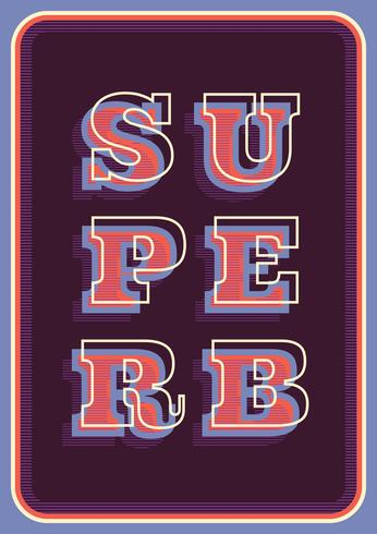 Tipografía retro