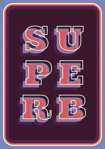 Retro typografi vektor