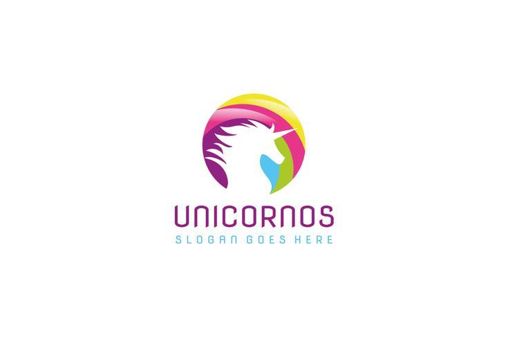 Kleurrijk Unicorn-logo