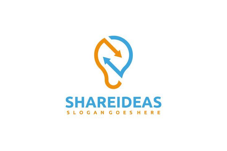 Logotipo de setas de ideia