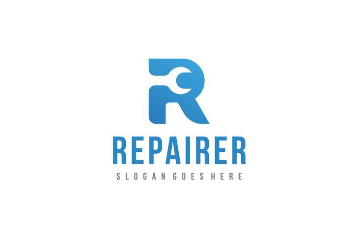 logo de reparación-r
