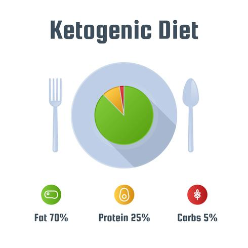 Unique Ketogenic Diet Vectors