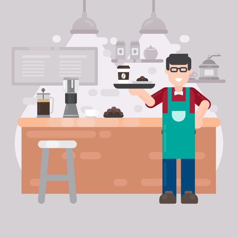 Barista-Vektor-Illustration