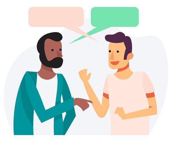 Ilustração de pessoas falando