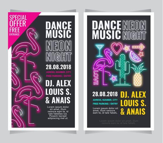 Vector Neon Posters