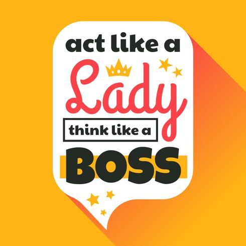 Doe als een vrouw, denk als een baas