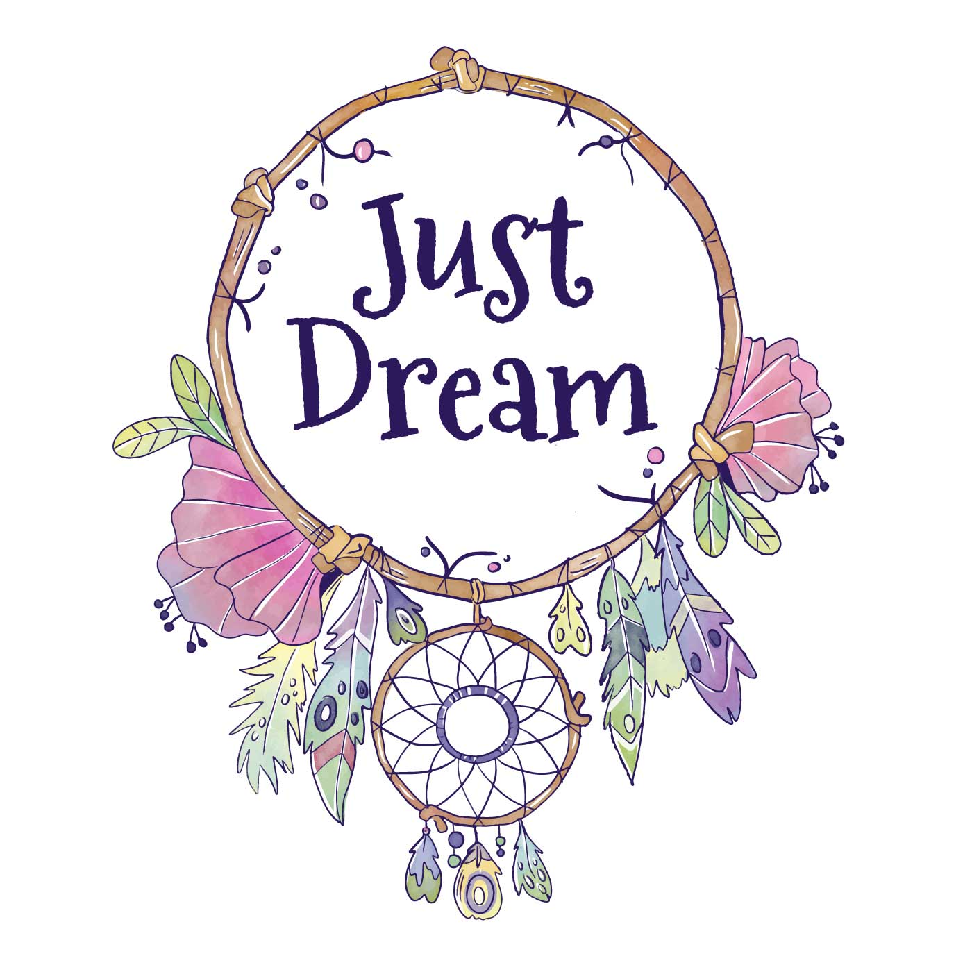 Cute Boho Dream Catcher With Quote Download Free Vector Art Stock