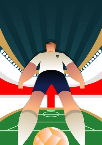 England World Cup Soccer Player Poses