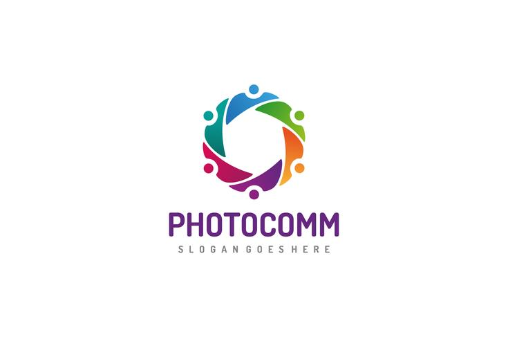 Logotipo colorido de la comunidad