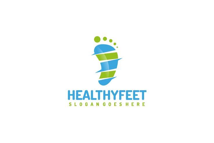 Logotipo de pies sanos