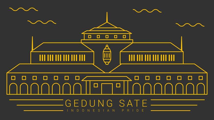Vetores proeminentes do orgulho indonésio