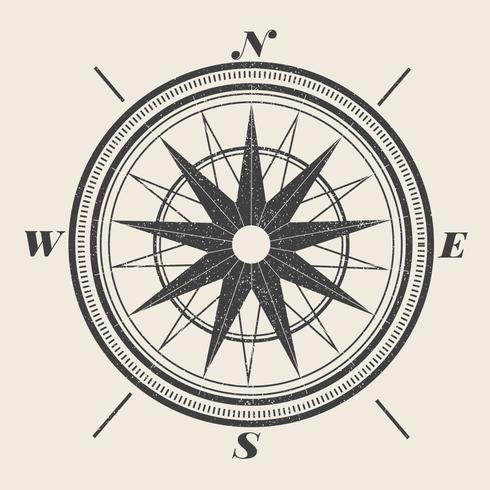Vintage Kompass Illustration