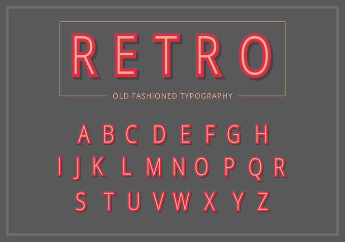 Conjunto de tipografía retro vintage