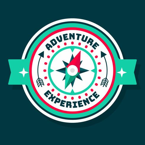 Explore With Compass Patch Vector