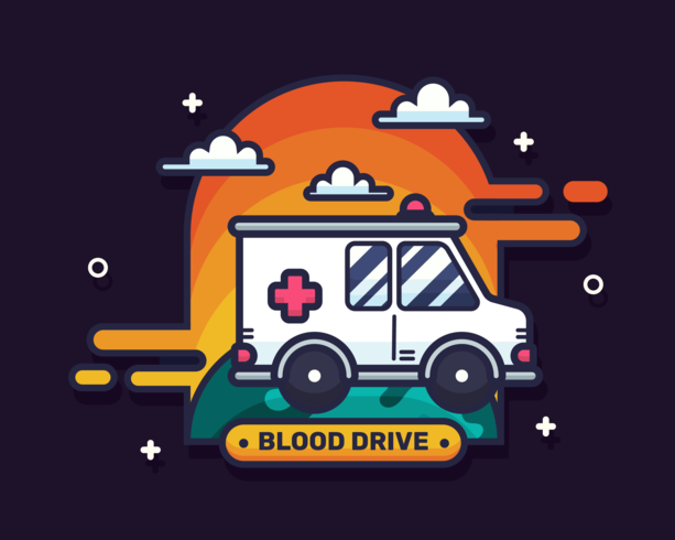 vector de unidad de sangre
