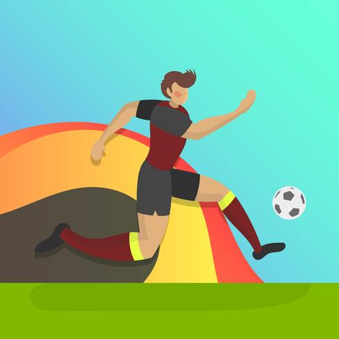 0c8c38d0b Flat Belgium Soccer Player With Gradient Background Vector Illustration